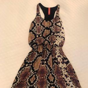 Snakeskin Patterned Dress